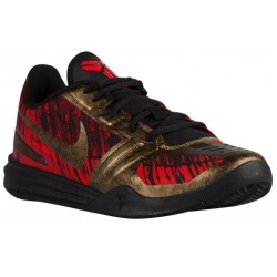 Nike Kobe Mentality - Men's - Basketball - Shoes - Kobe Bryant - Black/Challenge Red/Team Red/Metallic Aged Coin-sku:04942008