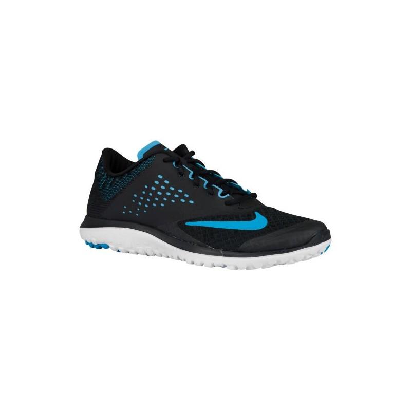 Womens Shoes Nike FS Lite Run 2 Black/White/Blue Lagoon
