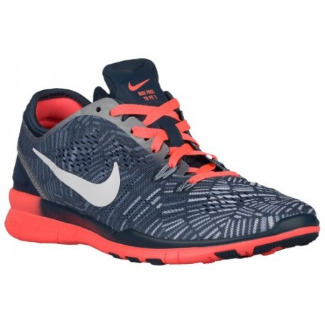Nike Free 5.0 TR Fit 5 - Women's - Training - Shoes - Squadron Blue/Bright Mango/Blue Grey/White-sku:04695406