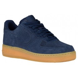 Nike Air Force 1 Low - Men's - Basketball - Shoes - Midnight Navy/Midnight Navy/Gum Light Brown-sku:88298435