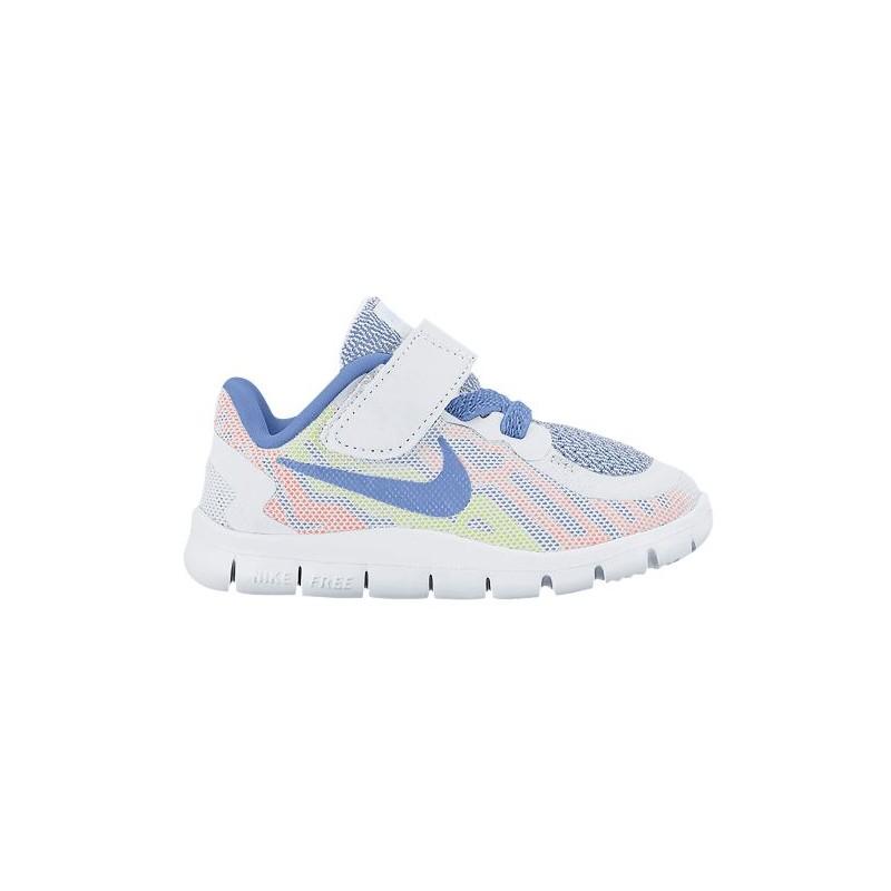 size 40 b3fcc ec9b4 Nike Free 5.0 2015 - Girls' Toddler - Running - Shoes - White/Chalk  Blue/Volt/White/Bright Mango-sku:25117101