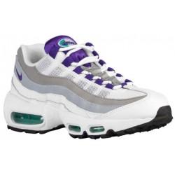 Nike Air Max 95 - Women's - Running - Shoes - White/Emerald Green/Wolf Grey/Court Purple-sku:07960101