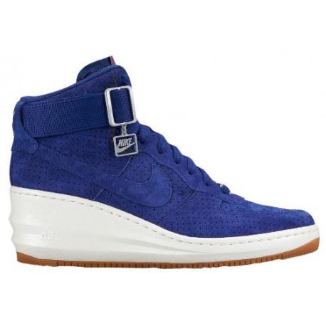 the best attitude b2474 1d693 Nike Lunar Force 1 Sky Hi - Women's - Basketball - Shoes - Deep Royal  Blue/Sail/Silver/Deep Royal Blue-sku:54848400