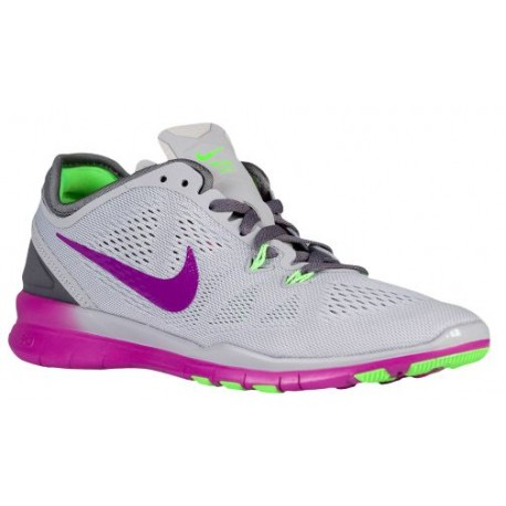 new product bbf97 3b610 grey and green nike shoes,Nike Free 5.0 TR Fit 5 - Women s - Training -  Shoes - Wolf Grey Vivid Purple Voltage Green Dark Grey-