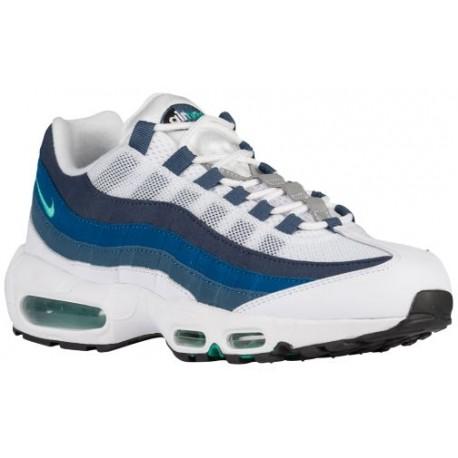 timeless design 84b27 ee5a8 Nike Air Max 95 - Men's - Running - Shoes - White/Emerald Green/Court  Blue/New Slate-sku:54970131