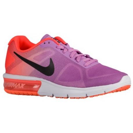 Nike Air Max Sequent - Women's Running Shoes - Fuchsia Glow/Hyper Orange/Vivid Purple/Black 19916502