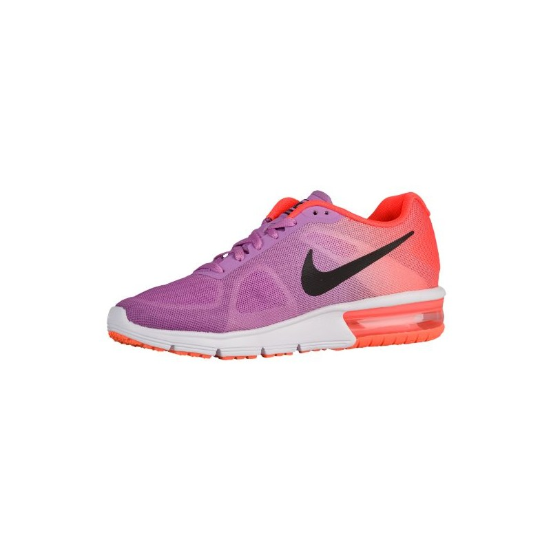 ... Nike Air Max Sequent - Women's - Running - Shoes - Fuchsia Glow/Hyper  Orange ...