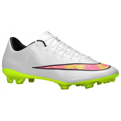 size 40 72ec5 3f70e Nike Mercurial Vapor X FG - Men's - Soccer - Shoes - White/Volt/Hyper  Pink/Black-sku:48553170