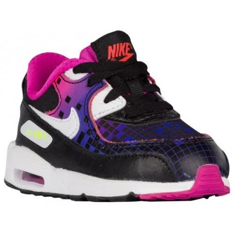 the latest e44e0 0b107 nike girls toddler shoes,Nike Air Max 90 - Girls  Toddler - Running - Shoes  - Black White Volt Bright Crimson-sku 4878002