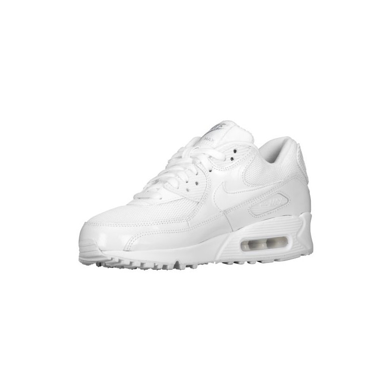 the best attitude f6537 635a6 Nike Air Max 90 - Women's - Running - Shoes - White/Metallic  Silver/White-sku:3817100