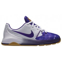 Nike KD 8 - Boys' Preschool - Basketball - Shoes - Kevin Durant - White/Fuschia Flash/Mulberry/Hyper Grape-sku:46230100