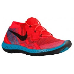 Nike Free 3.0 Flyknit 2015 - Men's - Running - Shoes - Hyper Orange/Blue Lagoon/Bright Crimson/Black-sku:18418802