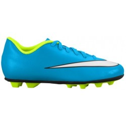 Nike Mercurial Vortex II FG-R - Girls' Preschool - Soccer - Shoes - Blue Lagoon/White/Volt/Black-sku:1642400