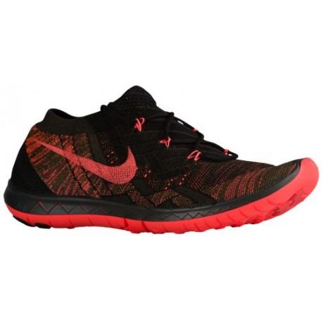 Nike Free 3.0 Flyknit 2015 - Men's - Running - Shoes - Black/Hot Lava/Squadron-sku:18418008