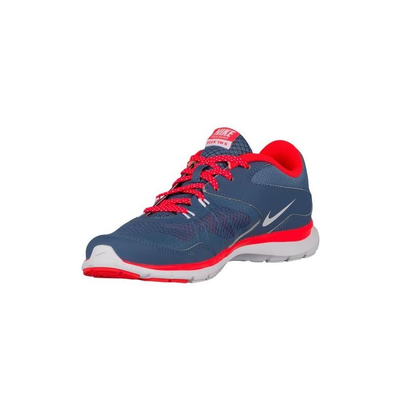 ... Nike Flex Trainer 5 - Women's - Training - Shoes - Ocean Fog/Bright  Crimson ...