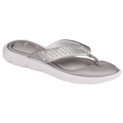 Nike Comfort Thong - Women's - Casual - Shoes - Metallic Silver/White-sku:54925010