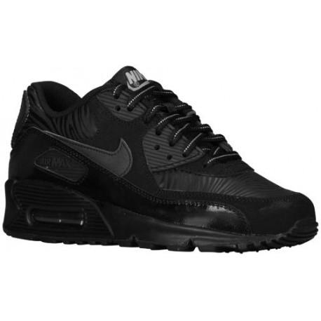 Nike Air Max 90  - Boys' Grade School - Running - Shoes - Black/Silver/Black-sku:07793074