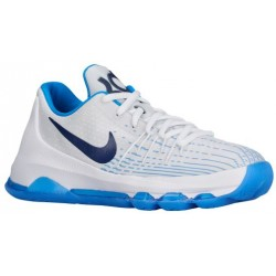Nike KD 8 - Boys' Grade School - Basketball - Shoes - Kevin Durant - White/Midnight Navy/Photo Blue/Opti Yellow-sku:68867144