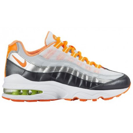 separation shoes 093bd c0cc4 nike air max 95 orange,Nike Air Max 95 - Boys Grade School - Running -  Shoes - WhiteDark GreyMetallic SilverTotal Orange-s