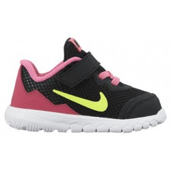 Nike Flex Experience 4 - Girls' Toddler - Running - Shoes - Black/Volt/Pink Pow/White/Vivid Pink-sku:49821007