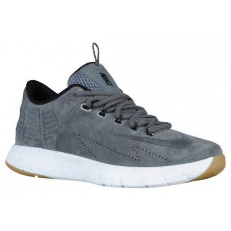 Men Nike Lunar HyperRev Low Ext'Basketball Shoes' Dark Grey/Metallic Silver/Black/Dark Grey Model UK