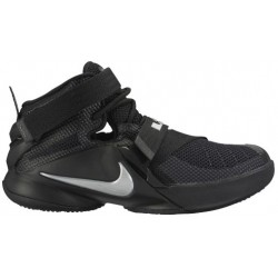 Nike Soldier IX - Boys' Grade School - Basketball - Shoes - Black/Metallic Silver-sku:76471001