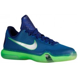 Nike Kobe X Elite - Boys' Grade School - Basketball - Shoes - Kobe Bryant - Deep Royal Blue/Metallic Silver/Soar/Green Shock-sku