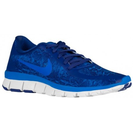 new style 66e16 a362e Nike Free 5.0 V4 - Women's - Running - Shoes - Deep Royal  Blue/White/Soar-sku:95168401