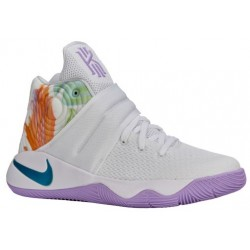 Nike Kyrie 2 - Boys' Grade School - Basketball - Shoes - Kyrie Irving - White/Hyper Jade/Urban Lilac/Bright Mango-sku:26673105