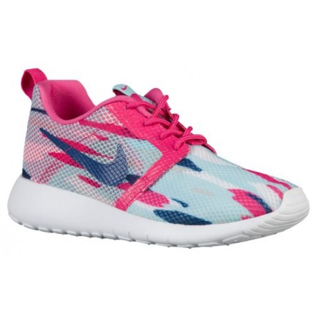 brand new e56c1 a087a Nike Roshe One Flight Weight - Girls' Grade School - Running - Shoes -  Copa/Insignia Blue/Pure Platinum/Vivid Pink-sku:05486401