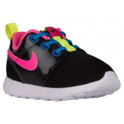 Nike Roshe One - Girls' Toddler - Running - Shoes - Black/Vivid Pink/White/Pink Pow-sku:49424011