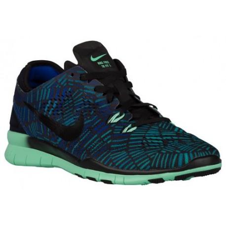 Cheap Nike Free 5.0 TR Fit 5 Black/Green Glow/Racer Blue/Black