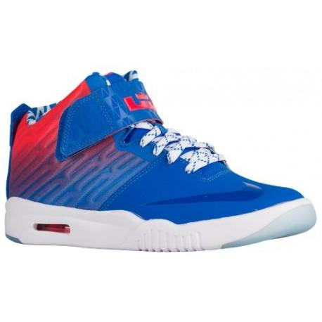 Nike Air Akronite - Boys' Grade School - Basketball - Shoes - Soar/University Red/White-sku:19832406
