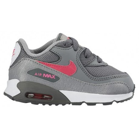 Nike Toddler Air Max 90 Leather (Wolf Grey | Rush Pink | Volt | White)