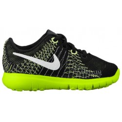 Nike Flex Fury - Boys' Toddler - Running - Shoes - Black/Volt/Flash Lime/White-sku:25068001