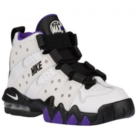 Nike Air Max CB '94 - Boys' Grade School - Basketball - Shoes - White/Black/Pure Purple-sku:09560105