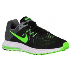 Nike Zoom Winflo 2 - Men's - Running - Shoes - Black/Cool Grey/White/Green Strike-sku:7276003