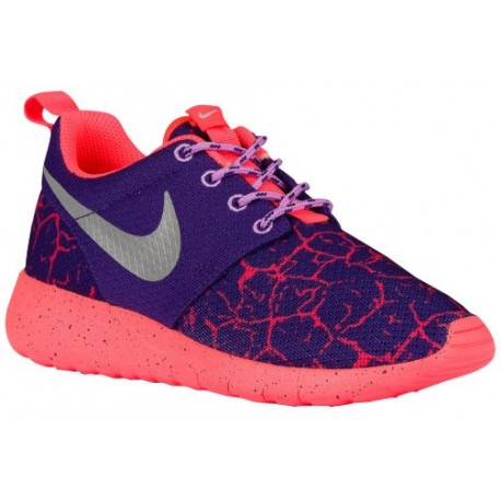 buy popular 006c0 a74fc Nike Roshe One - Girls' Grade School - Running - Shoes - Court  Purple/Metallic Silver/Hot Lava/Fuchsia Glow-sku:07596501