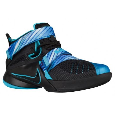 Nike Soldier IX - Boys' Grade School - Basketball - Shoes - Black/Beta Blue/Heritage Cyan-sku:76471040