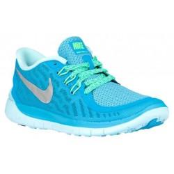 Nike Free 5.0 2015 - Girls' Preschool - Running - Shoes - Blue Lagoon/Metallic Silver/Midnight Navy/Copa-sku:25115404