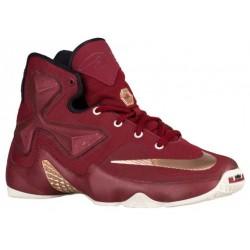 Nike LeBron XIII - Boys' Grade School - Basketball - Shoes - LeBron James - Team Red/Metallic Red/Bronze/Black-sku:08709700
