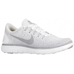 Nike Free RN Distance - Women's - Running - Shoes - White/Wolf Grey/Pure Platinum-sku:27116100