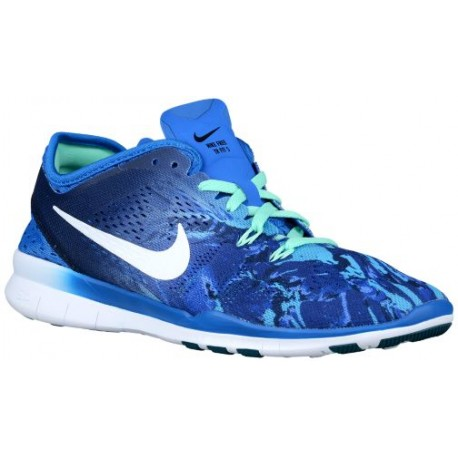 new york c5c63 3841f Nike Free 5.0 TR Fit 5 - Women's - Training - Shoes - Soar/Deep Royal  Blue/Green Glow-sku:04695403