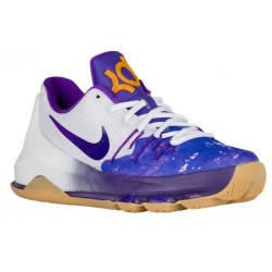 Nike KD 8 - Boys' Grade School - Basketball - Shoes - Kevin Durant - White/Fuschia Flash/Mulberry/Hyper Grape-sku:46228100