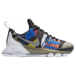 Nike KD 8 - Boys' Grade School - Basketball - Shoes - Kevin Durant - White/Silver/Black/Multi-sku:38723100