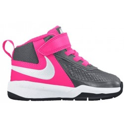 Nike Team Hustle D 7 - Boys' Toddler - Basketball - Shoes - Dark Grey/Hyper Pink/Black/White-sku:48002006