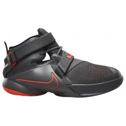 Nike Soldier IX - Boys' Grade School - Basketball - Shoes - Dark Grey/Dark Grey/Black/Hot Lava-sku:76471002