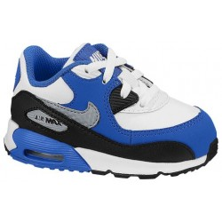 Nike Air Max 90 - Boys' Toddler - Running - Shoes - White/Hyper Cobalt/Black/Wolf Grey-sku:08110168