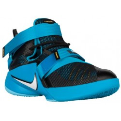 Nike Soldier IX - Boys' Grade School - Basketball - Shoes - Black/Blue Lagoon/Laser Orange/White-sku:76471014