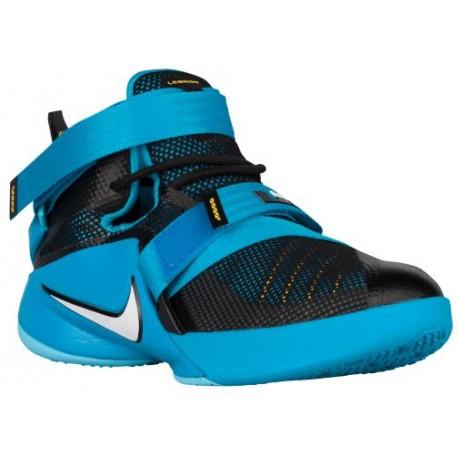 uk availability 5782a 61b39 Nike Soldier IX - Boys' Grade School - Basketball - Shoes - Black/Blue  Lagoon/Laser Orange/White-sku:76471014